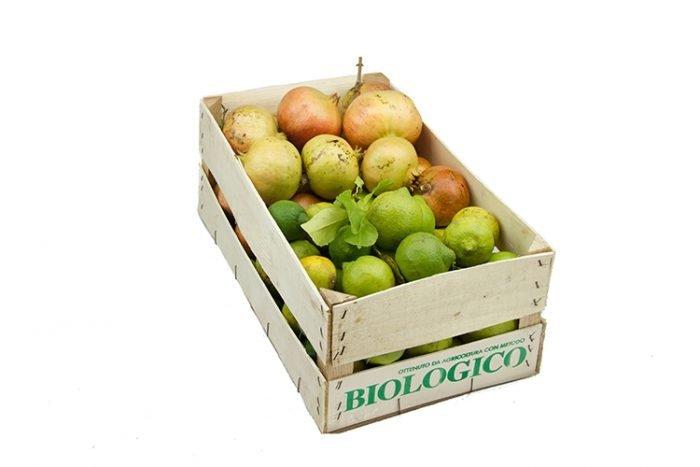 Cassetta da 10 kg Mista Melograni Bio e Limoni primofiore bio Azienda Agricola Biologica Jalari